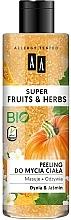 """Parfumuri și produse cosmetice Peeling pentru corp """"Dovleac și Iasomie"""" - AA Super Fruits & Herbs"""