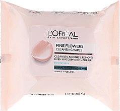Parfumuri și produse cosmetice Șervețele pentru demachiere - L'Oreal Paris Skin Expert Fine Flowers Normal Combination Cleansing Wipes