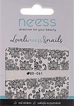 Parfumuri și produse cosmetice Abțibilduri pentru unghii, 3685, BD-061 - Neess LoveliNeess & Nails