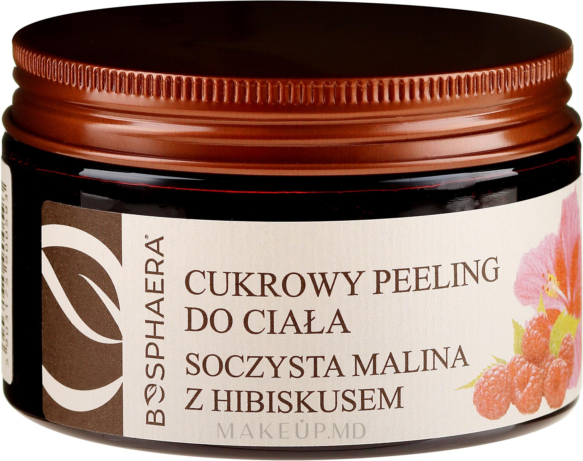 """Scrub de corp """"Zmeură suculentă cu hibiscus"""" - Bosphaera — Imagine 200 g"""