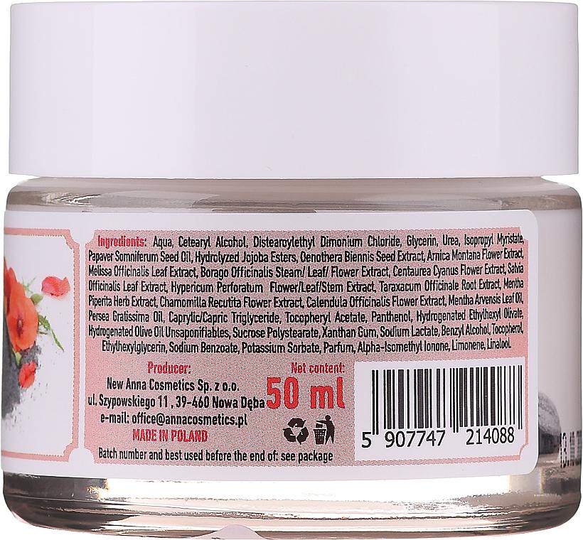 Cremă cu ulei de semințe de mac pentru toate tipurile de ten - Eco U Poppy Seed Oil Refreshing Face Cream For All Skin Type — Imagine N3