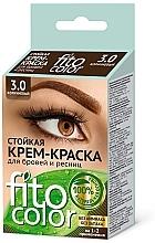 Parfumuri și produse cosmetice Vopsea pentru sprâncene și gene - Fito Kosmetic FitoColor