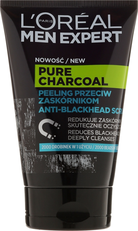 Scrub de față - Loreal Paris Men Expert Pure Charcoal Scrub
