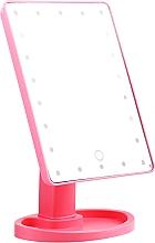 Parfumuri și produse cosmetice Oglindă mare de machiaj, roz - Lewer