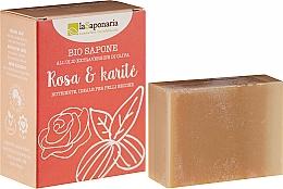 Parfumuri și produse cosmetice Săpun cu unt de shea și ulei de trandafir - La Saponaria Rose & Shea Butter Soap