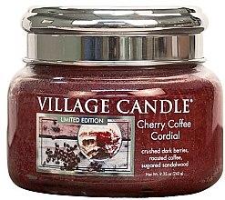 Parfumuri și produse cosmetice Lumânare aromatică - Village Candle Cherry Coffee Cordial Glass Jar