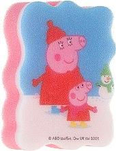 """Parfumuri și produse cosmetice Burete de baie pentru copii """"Peppa Pig"""", Iarnă - Suavipiel Peppa Pig Bath Sponge"""