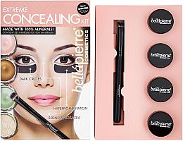 Set contouring pentru față - Bellapierre Extreme Concealing Kit — Imagine N3