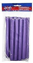 Parfumuri și produse cosmetice Bigudiuri profesionale flexibile 20/210, violet - Ronney Professional Flex Rollers