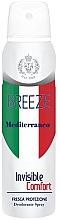 Parfumuri și produse cosmetice Deodorant-spray - Breeze Mediterranean Invisible Comfort Deodorant Spray