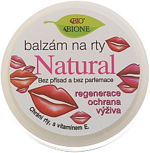 Parfumuri și produse cosmetice Balsam natural de buze - Bione Cosmetics Vitamin E