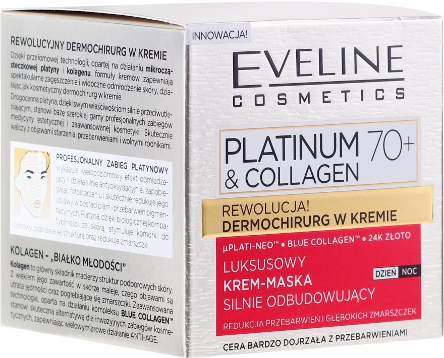Mască cremă pentru față - Eveline Cosmetics Platinum & Collagen Luxury Cream-Mask — Imagine N1