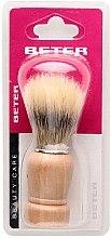 Parfumuri și produse cosmetice Pămătuf cu mâner din lemn - Beter Beauty Care