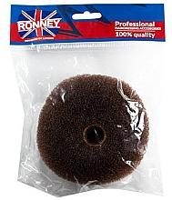 Духи, Парфюмерия, косметика Валик для прически, 11х4.5 см, коричневый - Ronney Professional Hair Bun 050