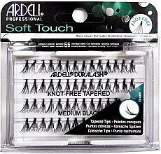Parfumuri și produse cosmetice Set de gene individuale - Ardell Soft Touch Duralash Medium Black Tapered Tips