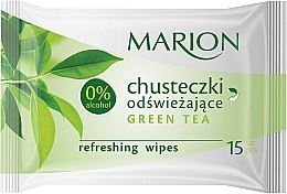 """Parfumuri și produse cosmetice Șervețele umede """"Green Tea"""", 15buc. - Marion"""