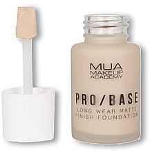 Parfumuri și produse cosmetice Fond de ten - MUA Pro Base Long Wear Matte Finish Foundation