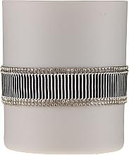 Parfumuri și produse cosmetice Lumânare aromată, alb-gri, 8x9,5cm - Artman Crystal Glass