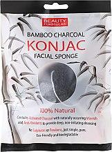 Parfumuri și produse cosmetice Burete pentru curățarea feței - Beauty Formulas Konjac Bamboo Charcoal Facial Sponge