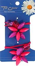 Parfumuri și produse cosmetice Elastice pentru păr, cu flori, 21480 - Top Choice