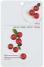 Parfumuri și produse cosmetice Mască nutritivă cu extract de mere pentru față - Eunyu Daily Care Sheet Mask Shea Apple