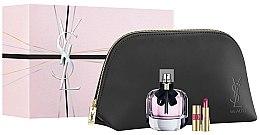 Parfumuri și produse cosmetice Yves Saint Laurent Mon Paris - Set (edp/90ml + lipstick/1.6g + pouch)