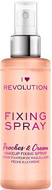 Fixator de machiaj - I Heart Revolution Fixing Spray Peaches & Cream