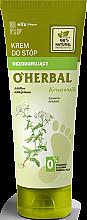 Parfumuri și produse cosmetice Cremă deodorant pentru picioare cu extract de coada şoricelului - O'Herbal Deodorizing Foot Cream With Yarrow Extract