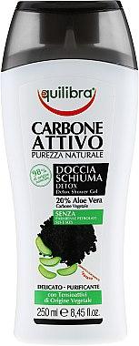 Set - Equilibra Active Charcoal Detox Bio Box (sh/gel/250ml + shampoo/250ml + b/sponge/1) — Imagine N3