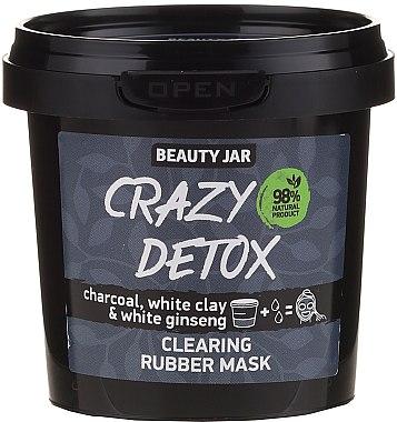 Mască cu cărbune, lut alb și ginseng pentru curățarea feței - Beauty Jar Crazy Detox Clearing Rubber Mask