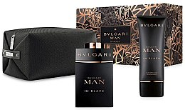 Parfumuri și produse cosmetice Bvlgari Man In Black - Set (edp/100ml+ ash/balm/100ml + bag)