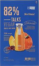 Parfumuri și produse cosmetice Mască de țesut pentru față - Missha Talks Vegan Squeeze Sheet Mask Skin Fitness