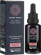 Parfumuri și produse cosmetice Ser facial - Wooden Spoon Super Seeds Bulgarian Rose Oil Anti-aging Facial Serum