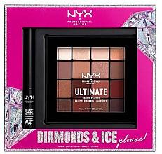 Parfumuri și produse cosmetice NYX Professional Makeup Diamonds & Ice Please Shadow & Liner Set (sh/palette/16x1.18g+liner/2ml) - Set