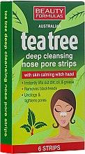 Parfumuri și produse cosmetice Очищающие полоски для носа - Beauty Formulas Tea Tree Deep Cleansing Nose Pore Strips