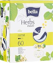 Parfumuri și produse cosmetice Absorbante Panty Herbs Tilia, 60 bucăți - Bella