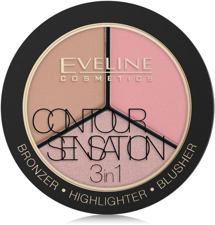 Paletă pentru sculptarea feței - Eveline Contour Sensation