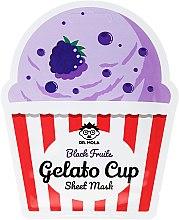 Parfumuri și produse cosmetice Mască de față - Dr. Mola Black Fruits Gelato Cup Sheet Mask