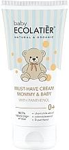 Parfumuri și produse cosmetice Cremă universală cu D-pantenol pentru mamă și copii - Ecolatier Baby