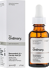 Parfumuri și produse cosmetice Ser cu resveratrol 3% + acid ferulic 3% - The Ordinary Resveratrol 3% + Ferulic Acid 3%