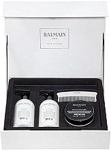 Parfumuri și produse cosmetice Set - Balmain Paris Hair Couture Silver Revitalizing Care Set (mask/200ml+h/couture/300ml+shampoo/300ml+brush)
