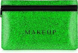 """Parfumuri și produse cosmetice Trusă cosmetică """"Glitter Pouch"""", 18x11 cm, verde - MakeUp"""