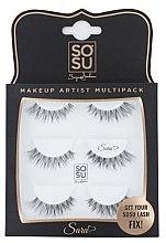 "Parfumuri și produse cosmetice Gene false ""Sara"" - Sosu by SJ Makeup Artist Multipack Eyelashes"