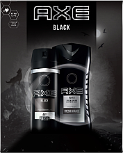 Parfumuri și produse cosmetice Set - Axe Black (deo/spray/150ml + sh/gel/250ml)