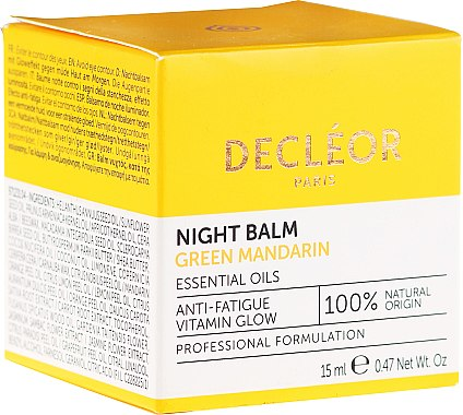 Balsam de noapte pentru față - Decleor Green Mandarin Glow Night Balm — Imagine N1