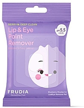 Parfumuri și produse cosmetice Șervețele micelare pentru demachierea ochilor și a buzelor - Blueberry Micellar 5.5 Lip & Eye Remover Pad