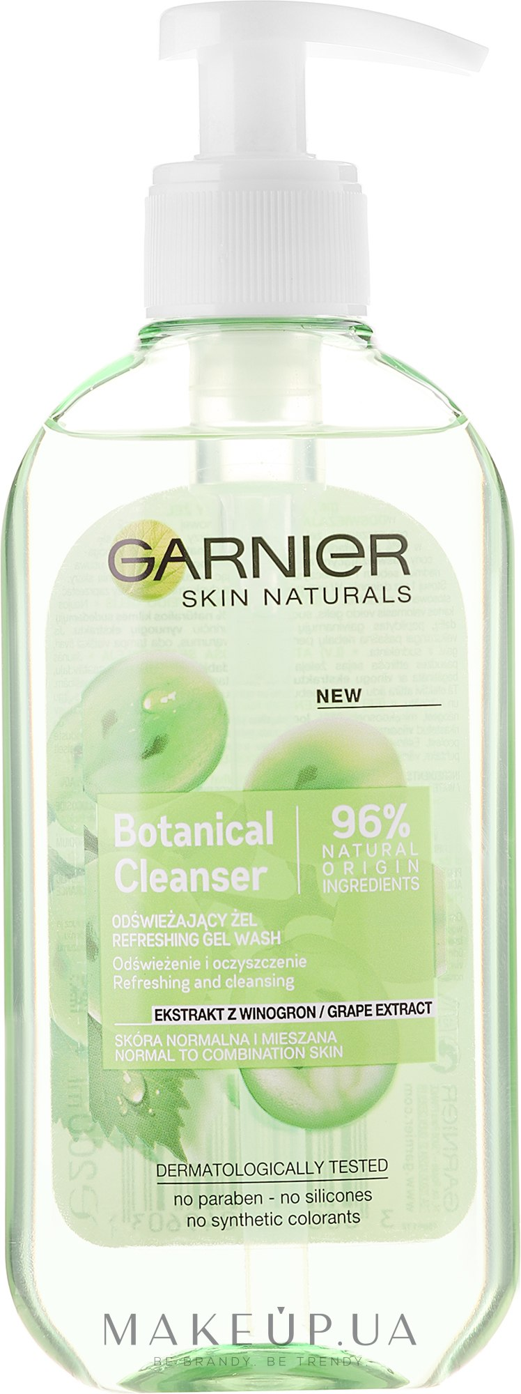 Gel de spălare - Garnier Skin Naturals Botanical Grape Extract — Imagine 200 ml