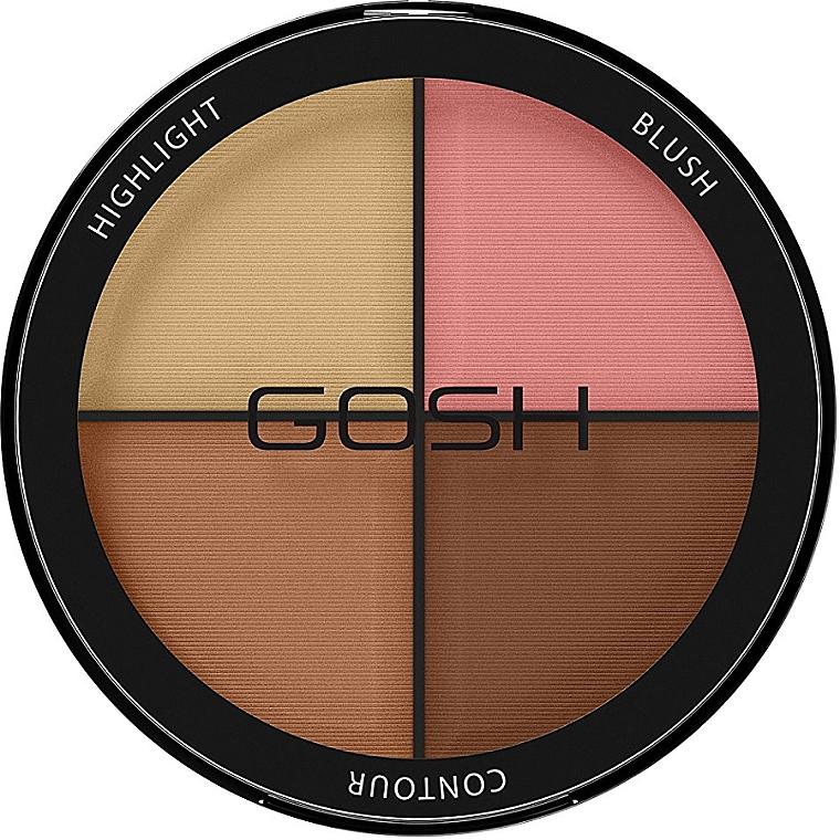 Paletă pentru contur facial - Gosh Contour Strobe Kit