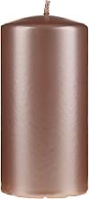 Parfumuri și produse cosmetice Lumânare decorativă, sidefată, 14 cm, roz-auriu - Artman Opal Candle