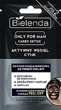 Parfumuri și produse cosmetice Mască de curățare pentru bărbați - Bielenda Only For Man Carbo Detox Peel-off Face Mask